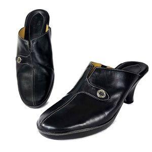 Cole Han Devon Mules Clogs Leather Slip On Heels